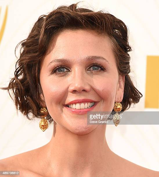 Maggie Gyllenhaal arrives at the 67th Annual Primetime Emmy Awards at Microsoft Theater on September 20 2015 in Los Angeles California