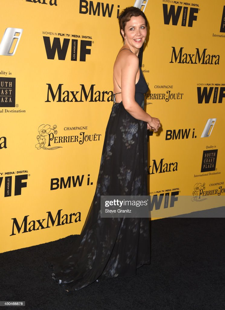 <a gi-track='captionPersonalityLinkClicked' href=/galleries/search?phrase=Maggie+Gyllenhaal&family=editorial&specificpeople=202607 ng-click='$event.stopPropagation()'>Maggie Gyllenhaal</a> arrives at the Women In Film 2014 Crystal + Lucy Awards at the Hyatt Regency Century Plaza on June 11, 2014 in Century City, California.