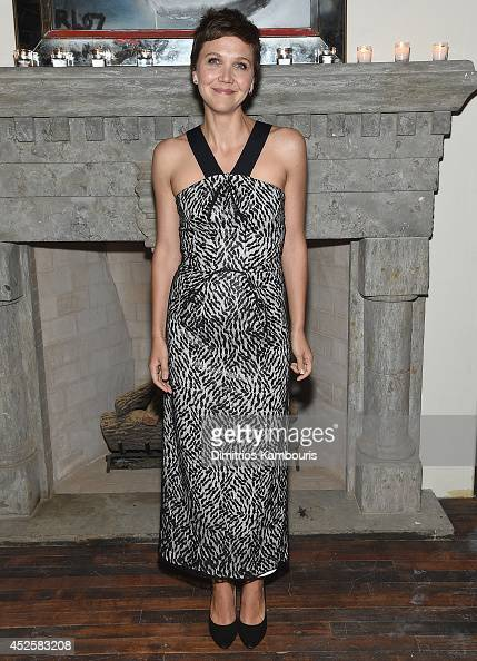 Maggie Gyllenhaal attends the after party for Sundance TV's 'The Honourable Woman' hosted by The Cinema Society with Tod's And Elle at Ludlow 38 on...