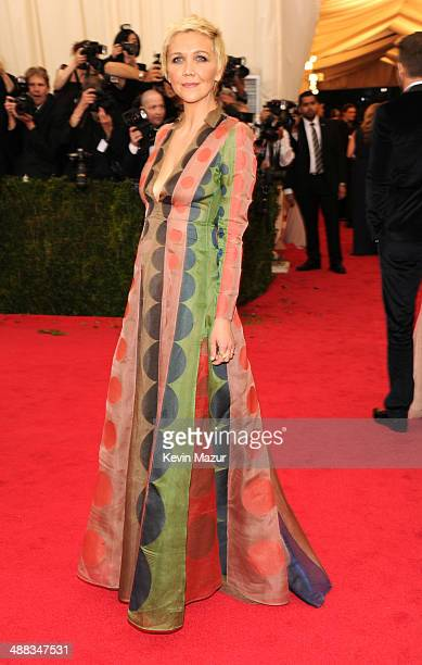 Maggie Gyllenhaal attends the 'Charles James Beyond Fashion' Costume Institute Gala at the Metropolitan Museum of Art on May 5 2014 in New York City