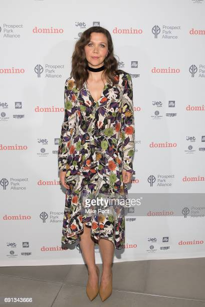 Maggie Gyllenhaal attends the Domino Summer Pop Up Launch Party at City Point on June 1 2017 in New York City