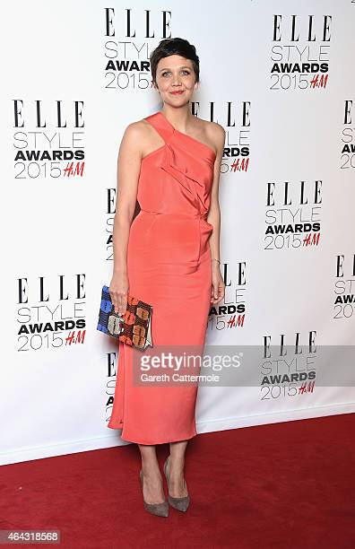 Maggie Gyllenhaal attends the Elle Style Awards 2015 at Sky Garden @ The Walkie Talkie Tower on February 24 2015 in London England