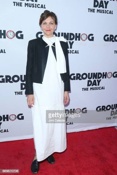 Maggie Gyllenhaal attends the 'Groundhog Day' Broadway Opening Night at August Wilson Theatre on April 17 2017 in New York City