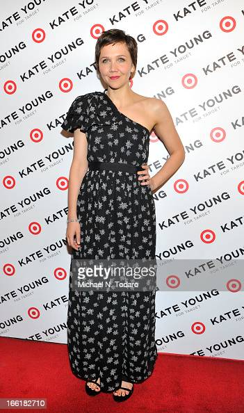 Maggie Gyllenhaal attends the Kate Young For Target Launch at The Old School NYC on April 9 2013 in New York City