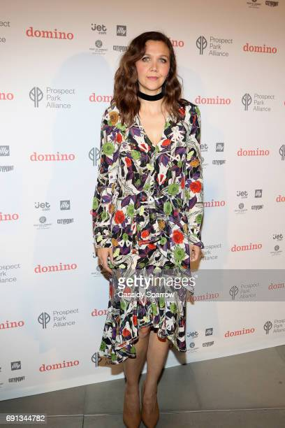 Maggie Gyllenhaal attends the Launch party of the Domino Summer Popup Shop at City Point in Brooklyn to benefit the Prospect Park Alliance at City...