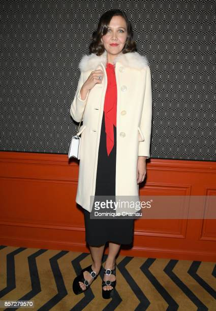 Maggie Gyllenhaal attends the Miu Miu aftershow party as part of the Paris Fashion Week Womenswear Spring/Summer 2018 at Boum Boum on October 3 2017...