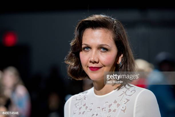 Maggie Gyllenhaal attends the SelfPortrait fasion show during New York Fashion Week at SIR Stage 37 on September 9 2017 in New York City