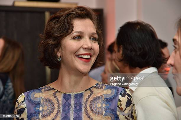 Maggie Gyllenhaal attends the unveiling of RH Modern at RH New York The Gallery in the Historic Flatiron District on October 22 2015 in New York City