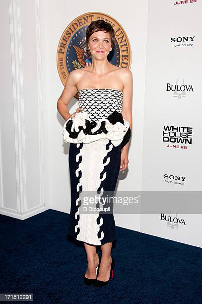Maggie Gyllenhaal attends the 'White House Down' premiere at the Ziegfeld Theater on June 25 2013 in New York City