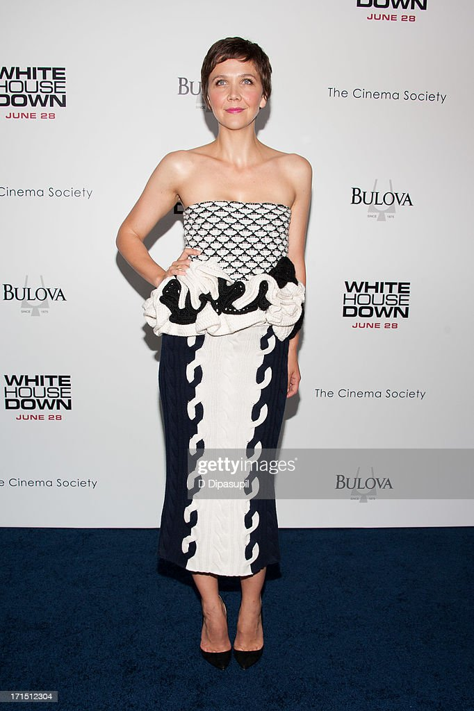 Maggie Gyllenhaal attends the 'White House Down' premiere at the Ziegfeld Theater on June 25, 2013 in New York City.