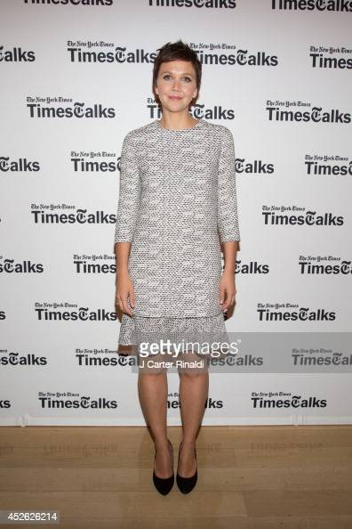 Maggie Gyllenhaal attends 'TimesTalks' at Times Center on July 24 2014 in New York City