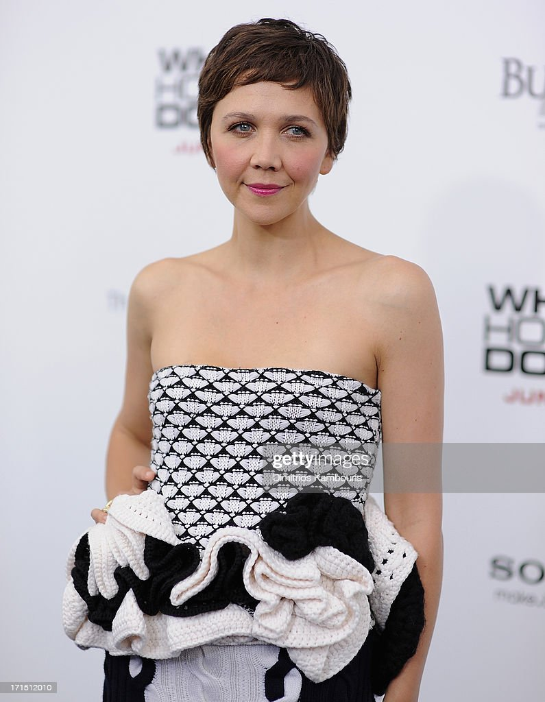 <a gi-track='captionPersonalityLinkClicked' href=/galleries/search?phrase=Maggie+Gyllenhaal&family=editorial&specificpeople=202607 ng-click='$event.stopPropagation()'>Maggie Gyllenhaal</a> attends 'White House Down' New York Premiere at Ziegfeld Theater on June 25, 2013 in New York City.