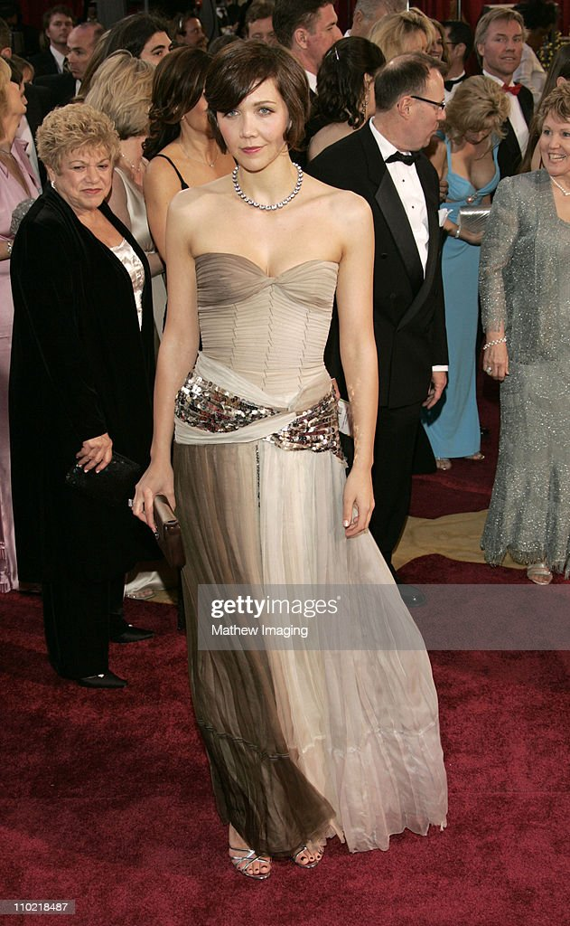 Maggie Gyllenhaal during The 77th Annual Academy Awards ET Platform at Kodak Theatre in Los Angeles California United States