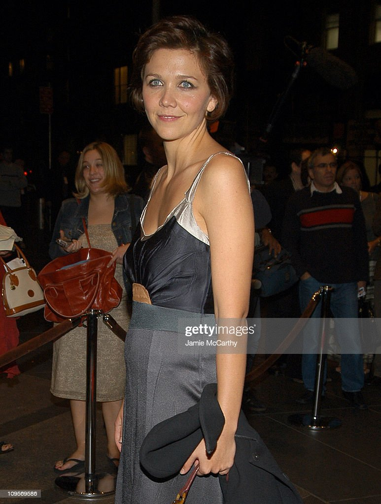 Maggie Gyllenhaal during The ACLU Freedom Concert - After Party Arrivals - October 4, 2004 at Mandarin Orient in New York City, New York, United States.