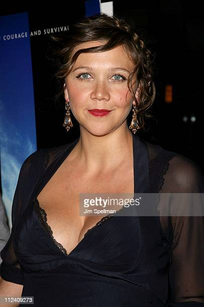Maggie Gyllenhaal during 'World Trade Center' New York City Premiere Outside Arrivals at Ziegfeld Theater in New York City New York United States