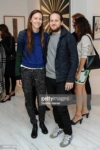 Maggie Kayne and Aaron Sandnes attend Barneys New York Rosette Delug And The Hammer Museum Celebrate Chitose Abe Of Sacai In Beverly Hills on October...