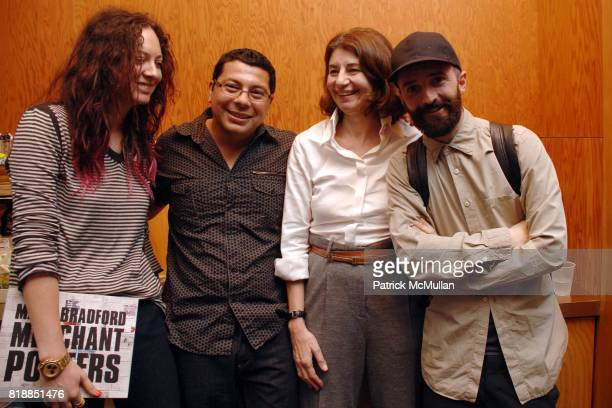 Maggie Kayne Ruben Ochoa Karen Marta and Piero Golia attend Ovation and ForYourArt celebrate Mark Bradford's Merchant Posters at REDCAT on April 10...