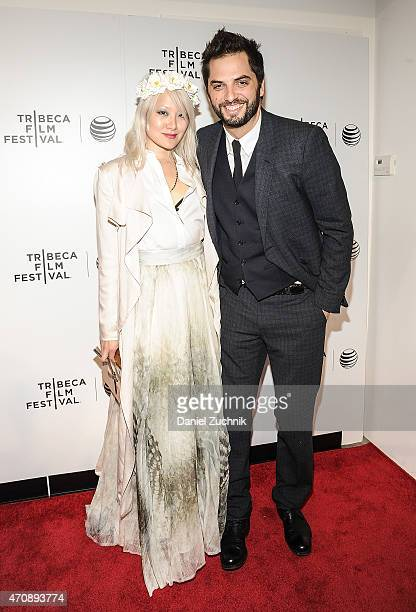 Maggie Kim and Diego Bunuel attend the Tribeca Film Festival Awards Night at Spring Studios on April 23 2015 in New York City