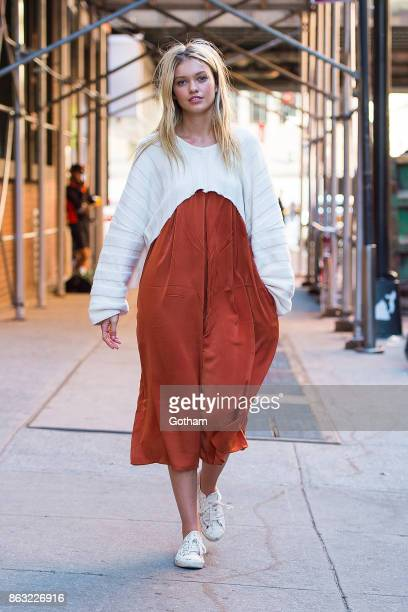 Maggie Laine is seen in the Meatpacking District on October 19 2017 in New York City