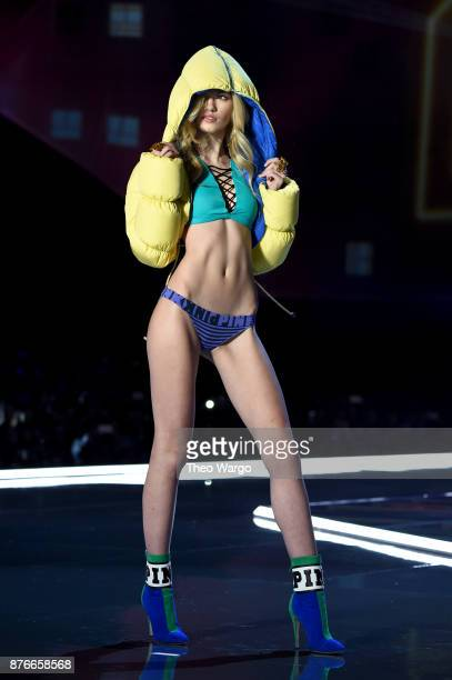 Maggie Laine walks the runway during the 2017 Victoria's Secret Fashion Show In Shanghai at MercedesBenz Arena on November 20 2017 in Shanghai China
