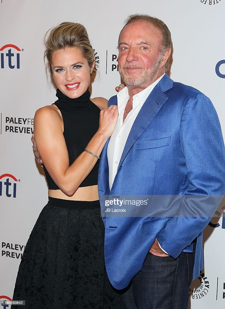Maggie Lawson and James Caan attend the 2013 PaleyFestPreviews: Fall TV - ABC held at The Paley Center for Media on September 10, 2013 in Beverly Hills, California.