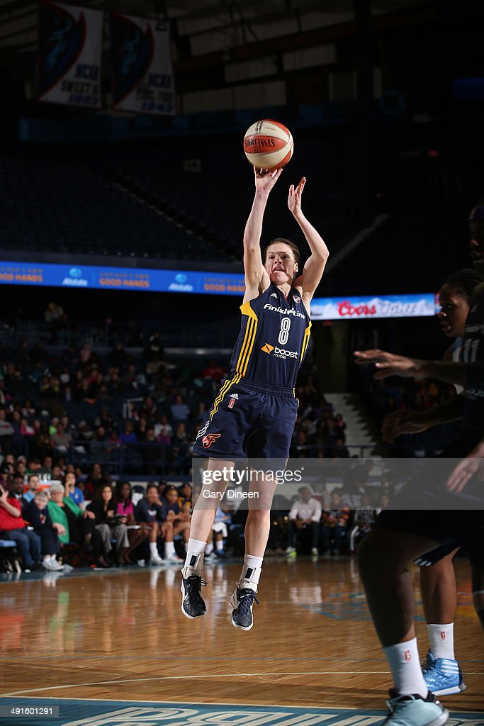 <a gi-track='captionPersonalityLinkClicked' href=/galleries/search?phrase=Maggie+Lucas&family=editorial&specificpeople=7449966 ng-click='$event.stopPropagation()'>Maggie Lucas</a> #8 of he Indiana Fever puts up a shot during the game against the Chicago Sky on May 16, 2014 at Allstate Arena in Rosemont, Illinois.
