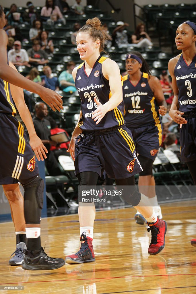 <a gi-track='captionPersonalityLinkClicked' href=/galleries/search?phrase=Maggie+Lucas&family=editorial&specificpeople=7449966 ng-click='$event.stopPropagation()'>Maggie Lucas</a> #33 of Indiana Fever shakes hands with her teammates against the Dallas Wings during a preseason game on May 1, 2016 at Bankers Life Fieldhouse in Indianapolis, Indiana.
