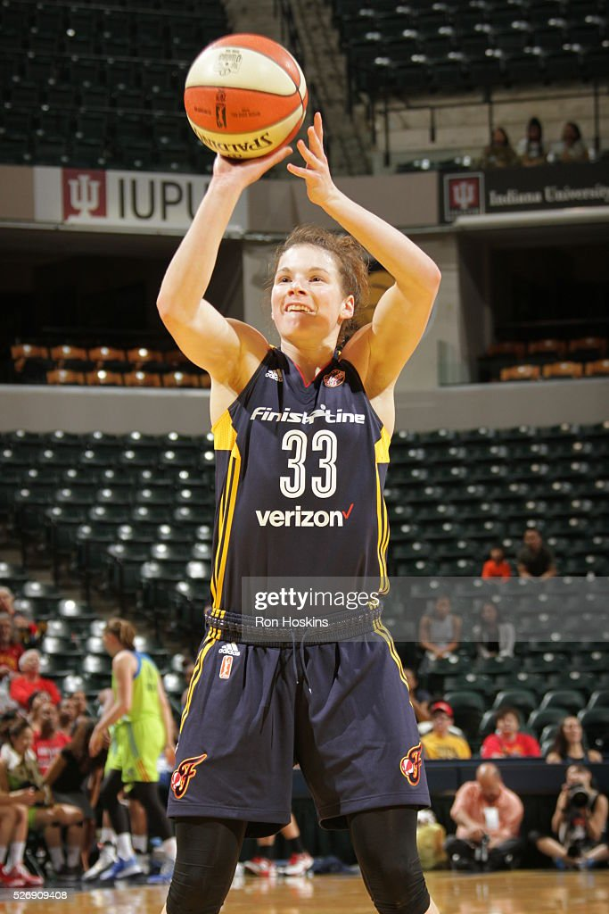 <a gi-track='captionPersonalityLinkClicked' href=/galleries/search?phrase=Maggie+Lucas&family=editorial&specificpeople=7449966 ng-click='$event.stopPropagation()'>Maggie Lucas</a> #33 of Indiana Fever shoots a free throw against the Dallas Wings during a preseason game on May 1, 2016 at Bankers Life Fieldhouse in Indianapolis, Indiana.