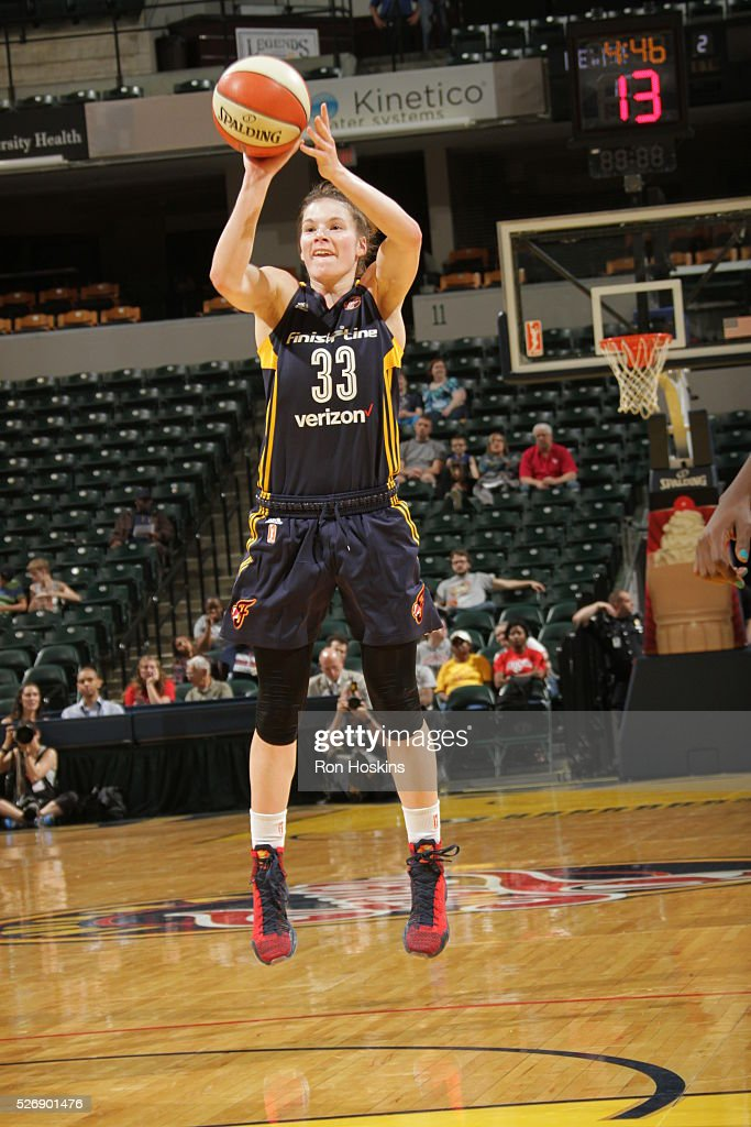 <a gi-track='captionPersonalityLinkClicked' href=/galleries/search?phrase=Maggie+Lucas&family=editorial&specificpeople=7449966 ng-click='$event.stopPropagation()'>Maggie Lucas</a> #33 of Indiana Fever shoots the ball against the Dallas Wings during a preseason game on May 1, 2016 at Bankers Life Fieldhouse in Indianapolis, Indiana.