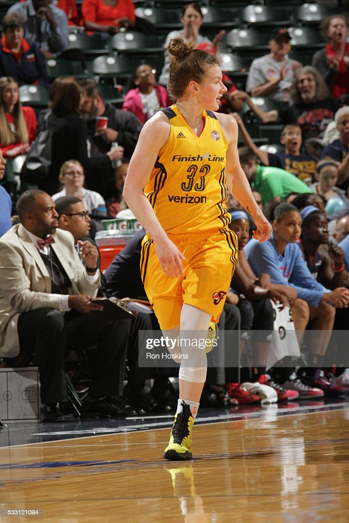 <a gi-track='captionPersonalityLinkClicked' href=/galleries/search?phrase=Maggie+Lucas&family=editorial&specificpeople=7449966 ng-click='$event.stopPropagation()'>Maggie Lucas</a> #33 of the Indiana Fever during the game against the Atlanta Dream on May 20, 2016 at Bankers Life Fieldhouse in Indianapolis, Indiana.