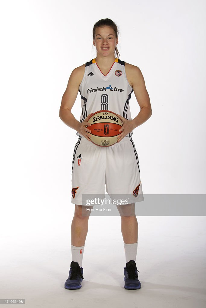 <a gi-track='captionPersonalityLinkClicked' href=/galleries/search?phrase=Maggie+Lucas&family=editorial&specificpeople=7449966 ng-click='$event.stopPropagation()'>Maggie Lucas</a> #8 of the Indiana Fever poses for a portrait during Fever Media Day on May 27, 2015 at Bankers Life Fieldhouse in Indianapolis, Indiana.