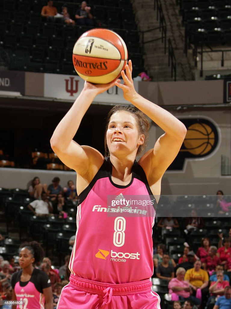 <a gi-track='captionPersonalityLinkClicked' href=/galleries/search?phrase=Maggie+Lucas&family=editorial&specificpeople=7449966 ng-click='$event.stopPropagation()'>Maggie Lucas</a> #8 of the Indiana Fever shoots a free throw against the Atlanta Dream at Bankers Life Fieldhouse on August 7, 2015 in Indianapolis, Indiana.