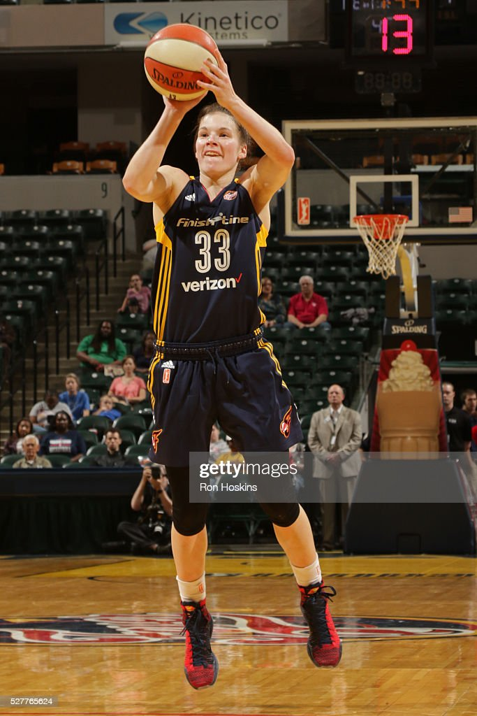 <a gi-track='captionPersonalityLinkClicked' href=/galleries/search?phrase=Maggie+Lucas&family=editorial&specificpeople=7449966 ng-click='$event.stopPropagation()'>Maggie Lucas</a> #33 of the Indiana Fever shoots against the Dallas Wings during a WNBA preseason game at Bankers Life Fieldhouse on May 1, 2016 in Indianapolis, Indiana.