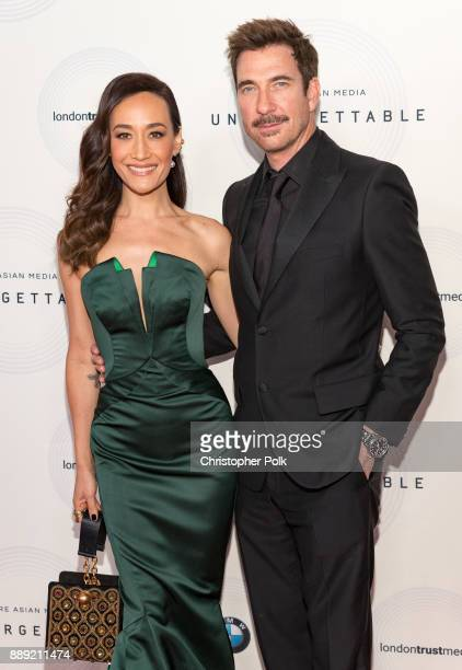 Maggie Q and Dylan McDermott arrive to at The 16th Annual Unforgettable Gala held at The Beverly Hilton Hotel on December 9 2017 in Beverly Hills...