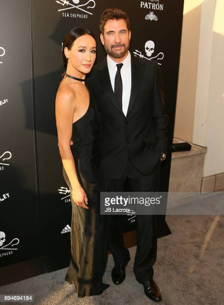 Maggie Q and Dylan McDermott attend Shepherd Conservation Society's 40th Anniversary Gala For The Oceans at Montage Beverly Hills on June 10 2017 in...