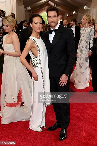 Maggie Q and Dylan McDermott attend the 'China Through The Looking Glass' Costume Institute Benefit Gala at the Metropolitan Museum of Art on May 4...