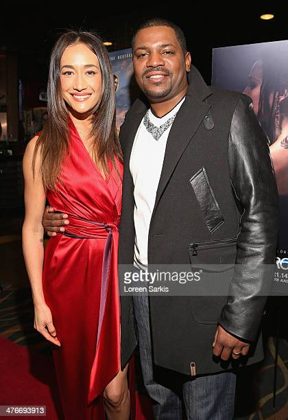 Maggie Q and Mekhi Phifer attend the 'Divergent' special screening at Emagine Royal Oak on March 4 2014 in Royal Oak Michigan