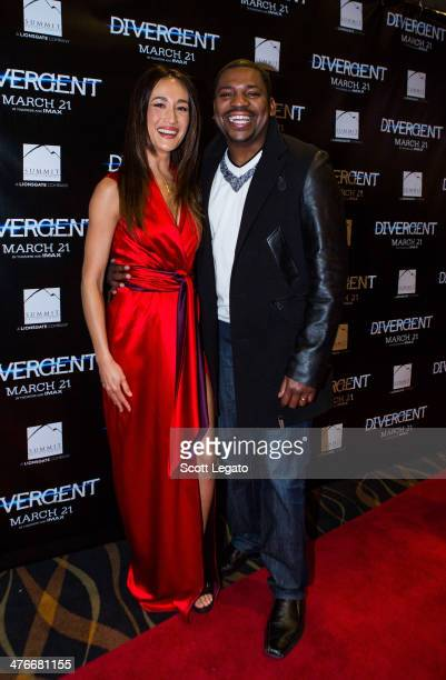 Maggie Q and Mekhi Phifer attends the 'Divergent' special screening at Emagine Royal Oak on March 4 2014 in Royal Oak Michigan