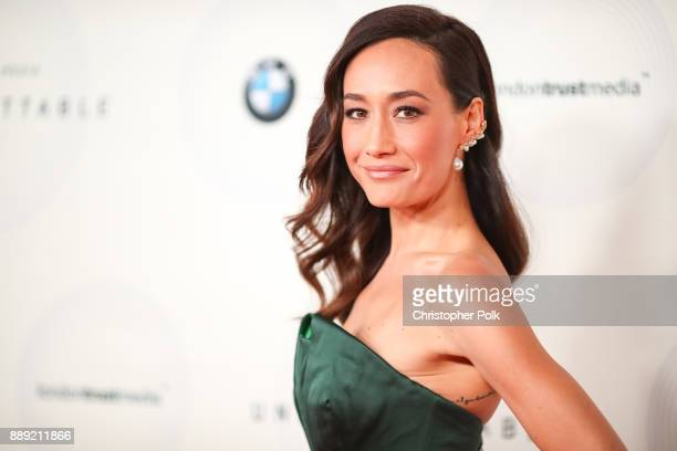 Maggie Q arrives to at The 16th Annual Unforgettable Gala held at The Beverly Hilton Hotel on December 9 2017 in Beverly Hills California