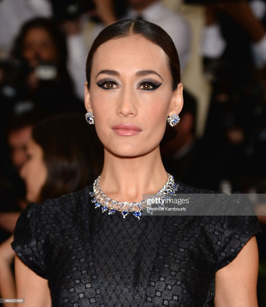 Maggie Q attends the 'Charles James: Beyond Fashion' Costume Institute Gala at the Metropolitan Museum of Art on May 5, 2014 in New York City.