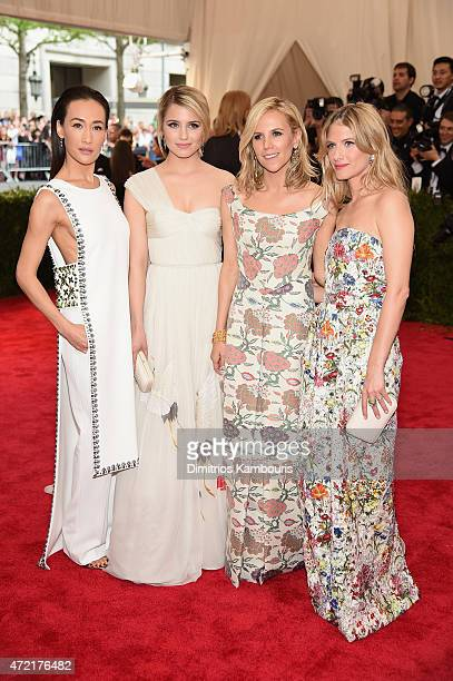 Maggie Q Dianna Agron Tory Burch and Mélanie Laurent attend the 'China Through The Looking Glass' Costume Institute Benefit Gala at the Metropolitan...