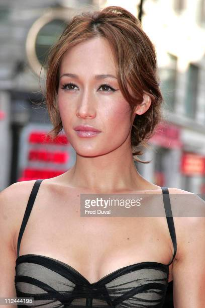 Maggie Q during 'Live Free or Die Hard' London Premiere Red Carpet at Empire Leicester Square in London Great Britain