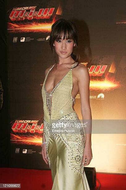 Maggie Q during 'Mission Impossible III' Rome Premiere Arrivals at Adriano's cinema in Cavour square in Rome Italy
