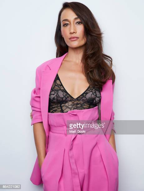 Maggie Q poses for a portraits at the Tribeca TV festival at Cinepolis Chelsea on September 24 2017