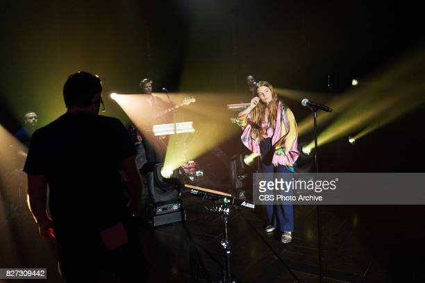 Maggie Rogers performs during 'The Late Late Show with James Corden' Tuesday August 1 2017 On The CBS Television Network