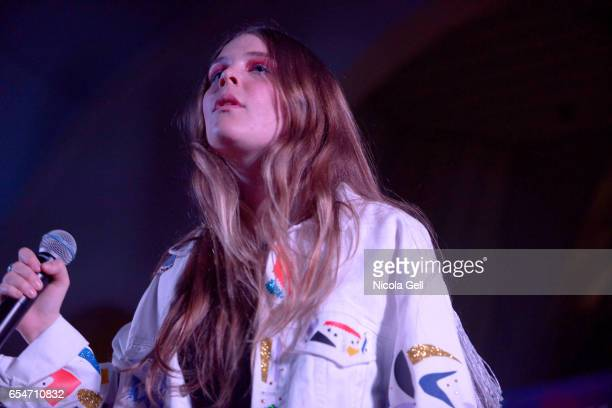 Maggie Rogers performs onstage at the Communion music showcase during 2017 SXSW Conference and Festivals at St David's Historic Sanctuary on March 17...
