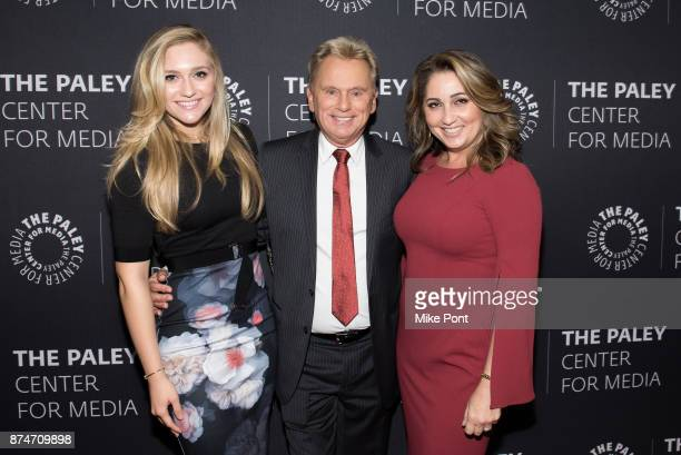 Maggie Sajak Pat Sajak and Lesly Brown attend The Paley Center For Media Presents Wheel Of Fortune 35 Years As America's Game at The Paley Center for...