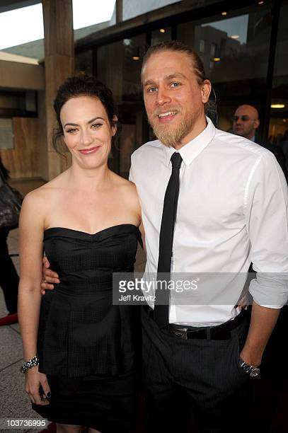 Maggie Siff and Charlie Hunnam attend FX's 'Sons Of Anarchy' season 3 premiere at ArcLight Cinemas Cinerama Dome on August 30 2010 in Hollywood...