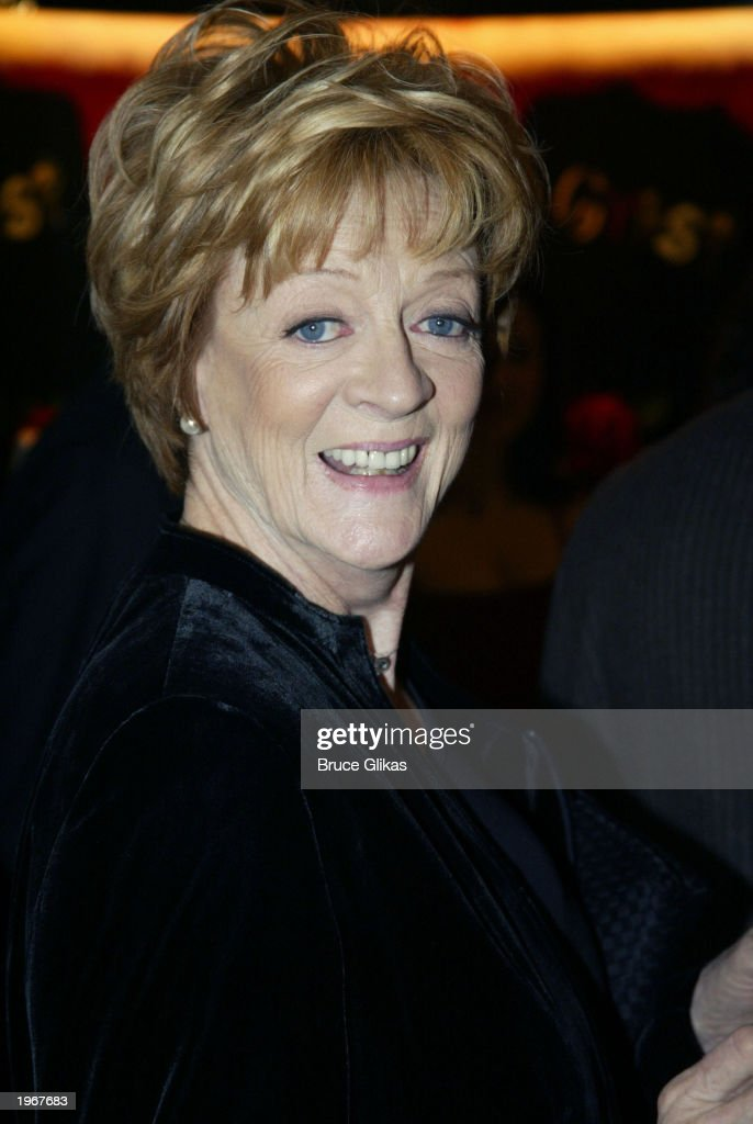 Maggie Smith arrives at the Opening Night of 'Gypsy' on Broadway at The Shubert Theatre on May 1, 2003 in New York City.