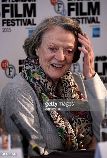 Maggie Smith at 'The Lady In The Van' Press Conference at Claridges Hotel on October 13 2015 in London England